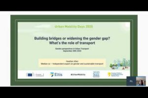 Urban Mobility Days 2020 - Gender perspectives in urban transport